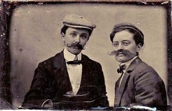 21girlsalute:  Tintype of two women dressed as men