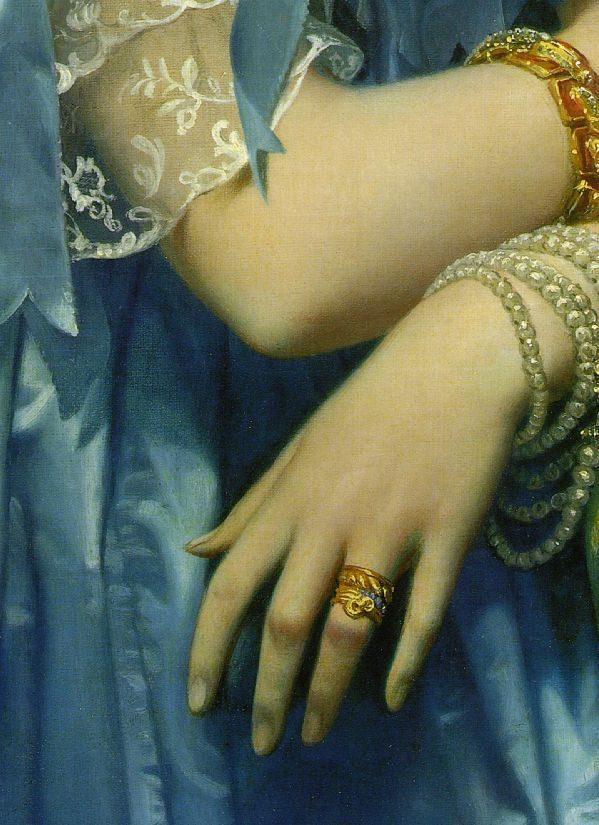 Detail of Jean Auguste Dominique Ingres's Princess Albert de Broglie (1853)