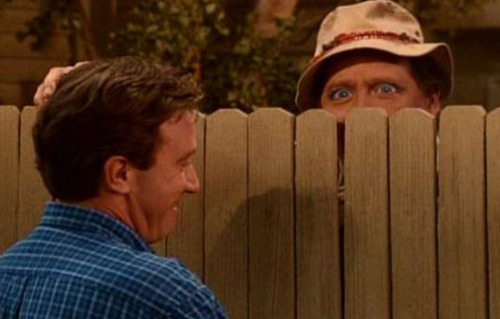 Wilson from Home Improvement with Michele Bachmann eyes.