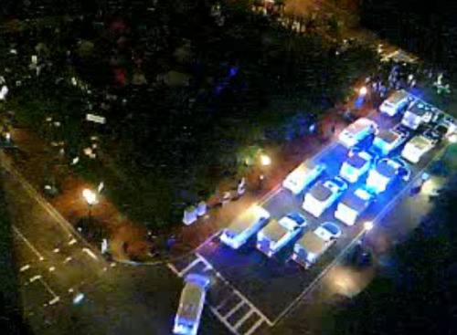 cultureofresistance:  The police just keep piling in… #OccupyBoston Watch: http://cdn.livestream.com/embed/occupyboston?layout=4&height=340&width=560&autoplay=false