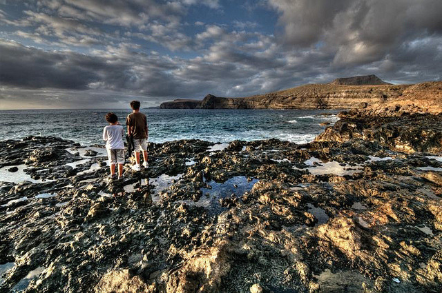| ♕ |  Sunset cove - Gran Canaria, Spain  | by © Jose Cuellar