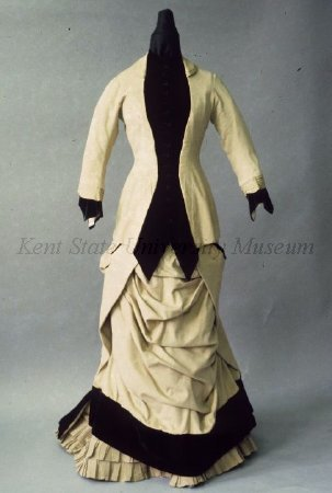 Walking suit, early 1880's Paris, Kent State With the jacket: