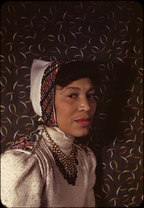 tracilynette:  zora neale hurston,portrait by carl van vechtennew york, 1940color, kodachrome 2 x 2 in.