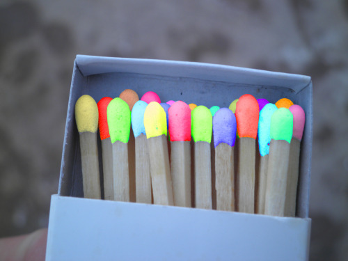 coloredmondays:  colored matches   Awesome! I would never use these lol ;)