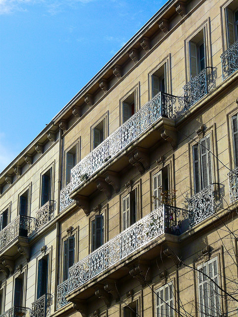 ysvoice:  | ♕ |  Balconies in Marseille  |  by © Laurent Henocque