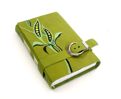 Green Leather Journal by Baghy