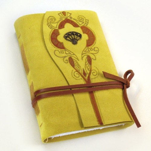 Suede Yellow Journal by Baghy