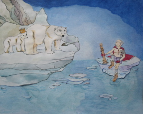 love having time to paint polar bear kings!