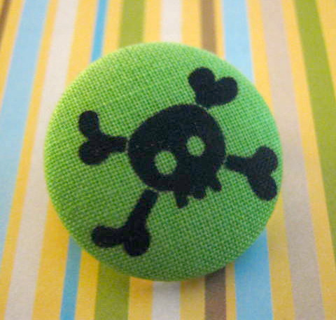 Skull and Crossbone button on Flickr.