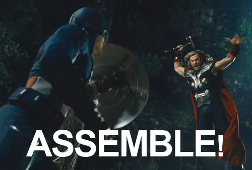Full Avengers trailer explodes online! The Avengers trailer has hit Apple and it's - no question - our favourite of the year. It's packed with everything we could hope an Avengers trailer could deliver - and more. Our favourite bits? - Iron Man's city flights.- Black Widow's return to thigh-based neck-snapping antics.- Captain America with a machine gun!- Nick Fury with a rocket launcher!- Thor Vs. Cap!- Where's the Hulk? WAIT, THERE HE IS![TO SEE THE TRAILER, CLICK ON THE IMAGE OR FOLLOW THIS LINK]
