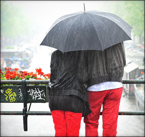 listen to the falling rain by Monique Kooijmans on Flickr.Ya, Dutch summer… :)