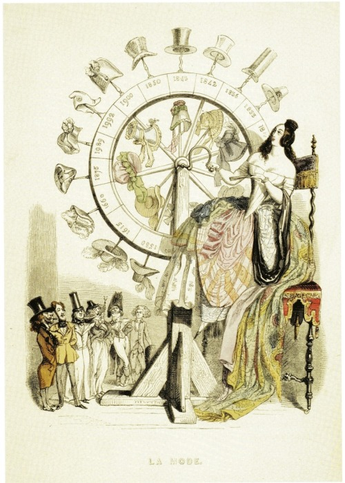 vintagevision:  'The Wheel of Fashion' by JJ GrandvilleIN: 'Un Autre Monde: Transformations, Visions … et Autre Choses', 1844.  This is one of the best things I've ever seen on Tumblr…