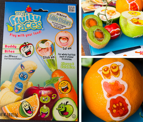 The Family Kitchen on Babble is having a Fruity Faces giveaway! Why has no one told me about these things?! They are edible stickers for your fruit! Hilar! I love it. To enter, you just have to leave a comment on THEIR site (not this one!) and tweet about the giveaway. OMG this is so exciting! I want Fruity Faces!