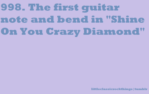 "littleclassicrockthings:  ""Shine on you crazy diamond"" by Pink FloydSubmitted by tindallism   Always makes me shiver… :)"