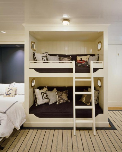 Built-in Bed and Bunks