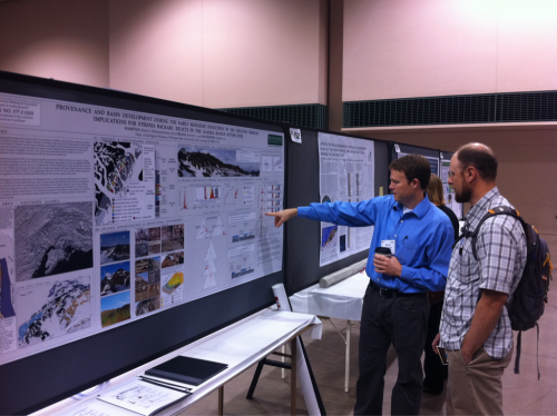 #MSU Prof Hampton at his #GSAMinn poster on Chulitna Terrane, AK