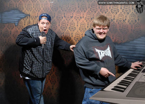 interweber:  (via Nightmares Fear Factory!) Fear Factory Haunted House pictures get rightfully altered to utter perfection.