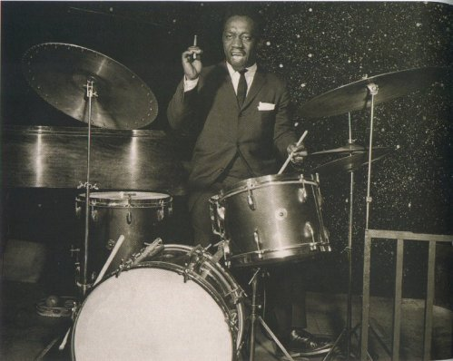 Today would have been Art Blakey's 92nd birthday. He passed away in 1990 at the age of 71 after producing an enormous body of work with his Jazz Messengers — and educating countless sidemen in the ways of bebop and hard bop. He played with everyone from Charlie Parker to Wynton Marsalis and most in between. Give the drummer some.