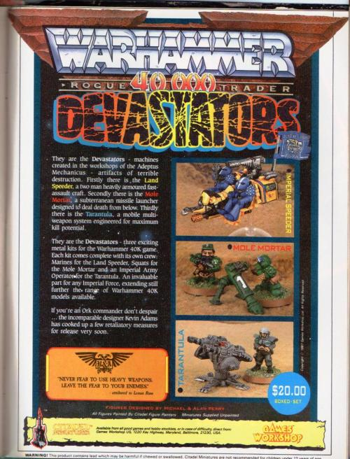 Citadel Miniatures Devastators - assorted 40k stuff. 1980s.