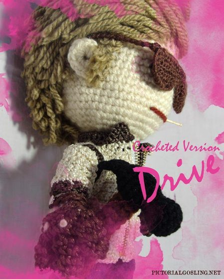 how to crochet your very own Drive version of Ryan Gosling (via) hahaha :-D