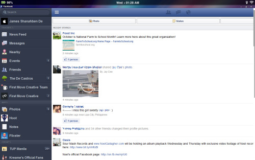 The new Facebook Mobile UI on my desktop makes it look like I'm on an iPad. :)