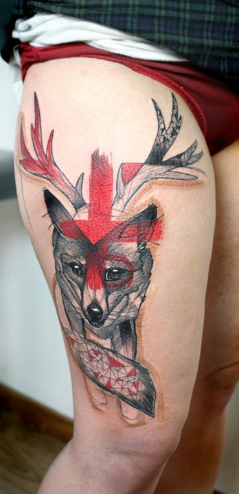 tattoosforpassionnotfashion:  done by peter aurisch