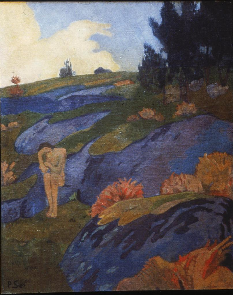 post-impressionism:  Melancholia or Breton Eve c. 1890 Paul Serusier