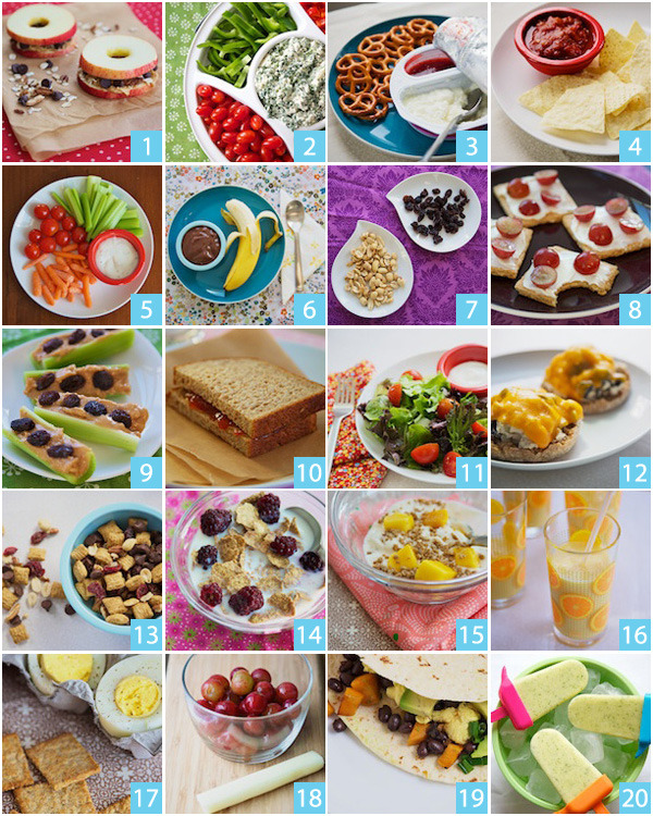mixyourlife:  20 QUICK AND HEALTHY SNACK IDEAS … GO FOR IT :)