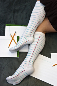 Notebook socks for the studious type. $18 (via Sock Dreams)