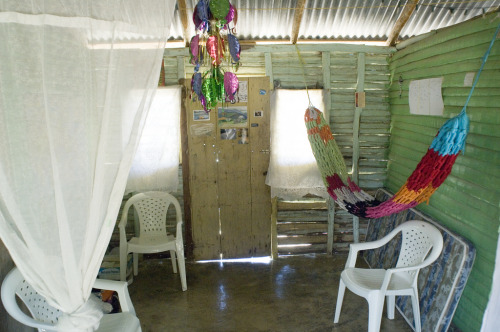 The living room of a Volunteer's wooden house.  Dominican Republic - 2006
