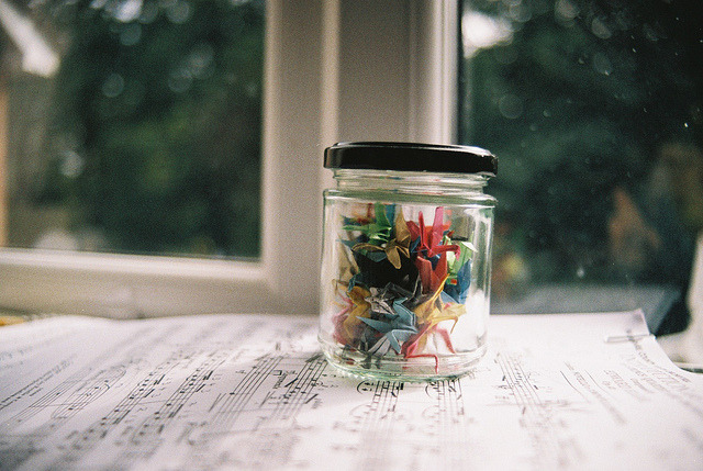 paper crane crowd by katy the narwhal on Flickr.