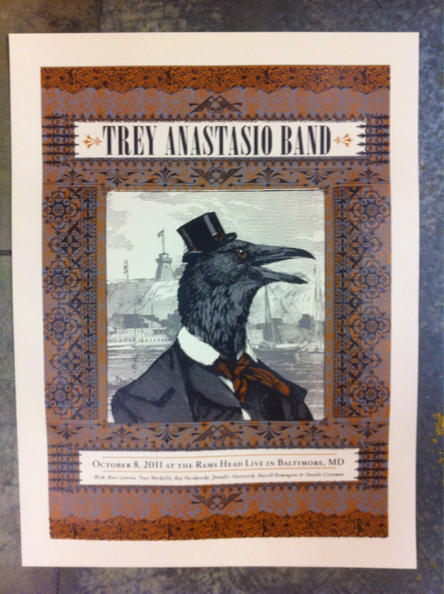 Color 3 of 3 on my Trey Anastasio Band- MD poster