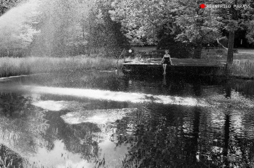 "reinfriedmarass:  Woman By The Pond II ""In my opinion a camera is a mirror of a photographer's soul, reflected in the work done. My work is 'signed' with a heartprint. Without heart photographs would be mere images."""