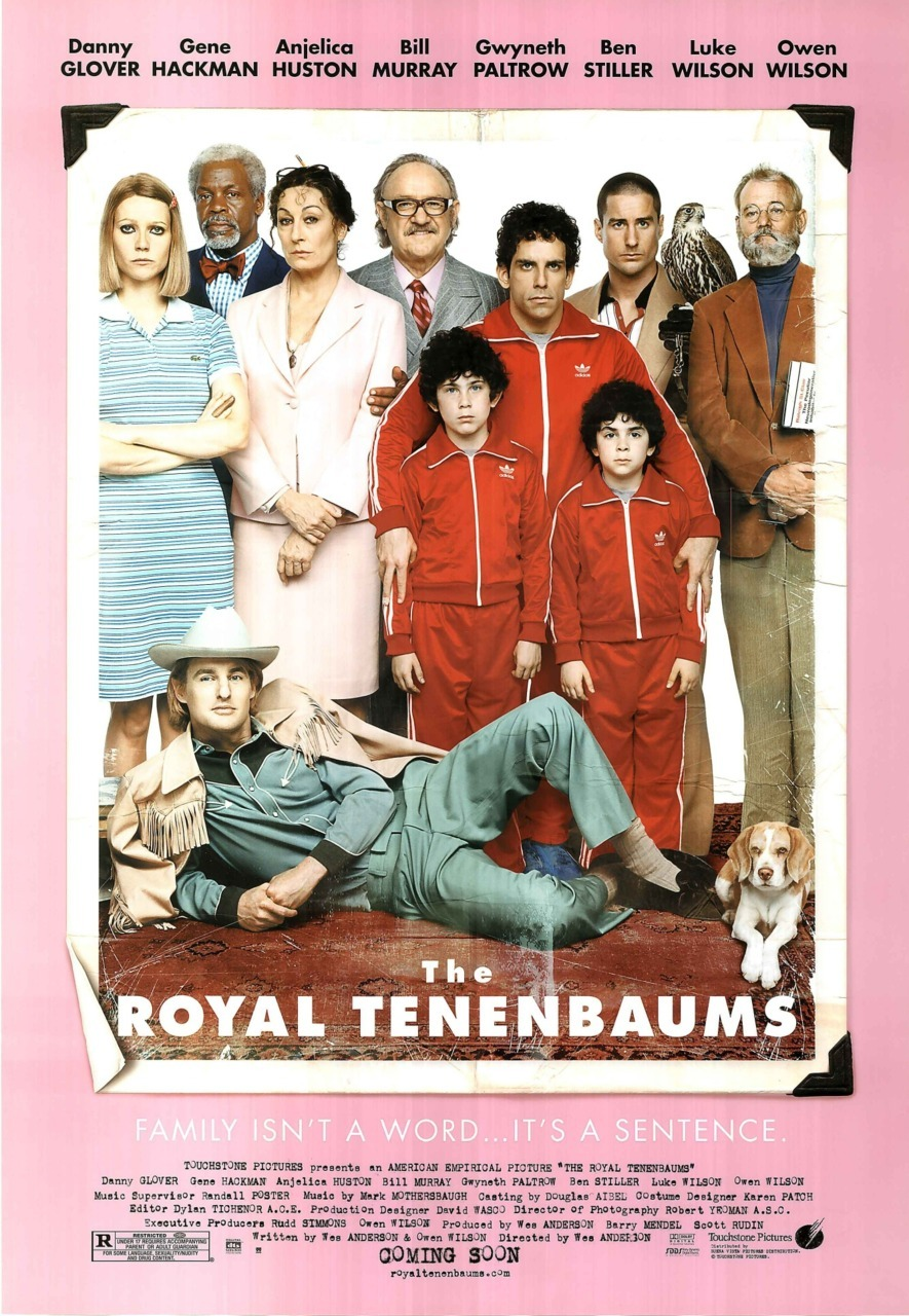 The Royal Tenenbaums movie poster, directed by Wes Anderson.