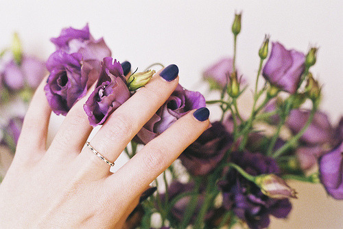 LOVE: Skinny rings and indigo.