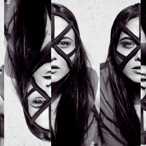 chromat:    chromat ss12 pentagram face cage. photo by hadar pitchon  collage by becca mccharen, 2011