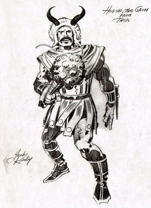"(via Bully Says: Comics Oughta Be Fun!)  ""Hogun, the Grim, from Thor,"" Jack Kirby pencil sketch, reprinted in The Jack Kirby Collector #57 (Summer 2011)"