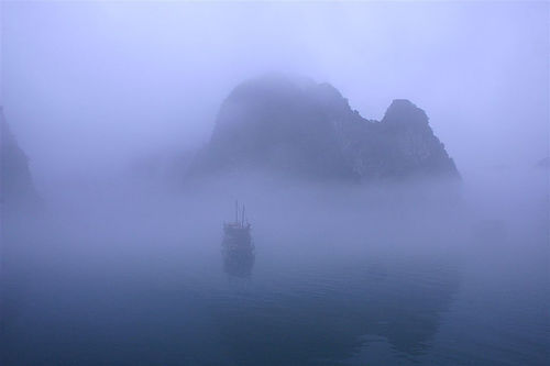 Early Morning Fog in Halong Bay (by Gibtach)
