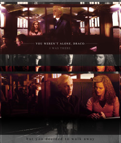 jennyspring:  draco and hermione | You weren't alone, Draco.