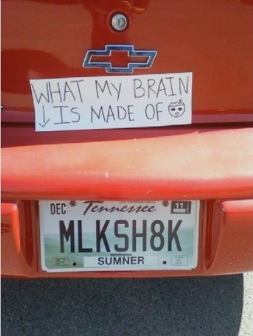 Milkshake?  Really?  Really?  Someone paid money for that personalized tag? (2 points)