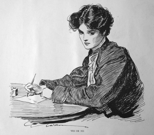 cavetocanvas:  Yes Or No - Charles Dana Gibson
