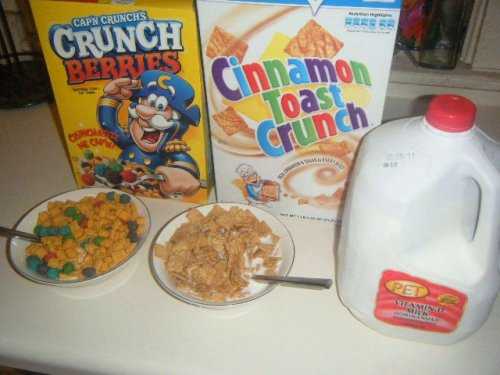 Captain Crunch Berries and Cinnamon Toast Crunch cereal :)