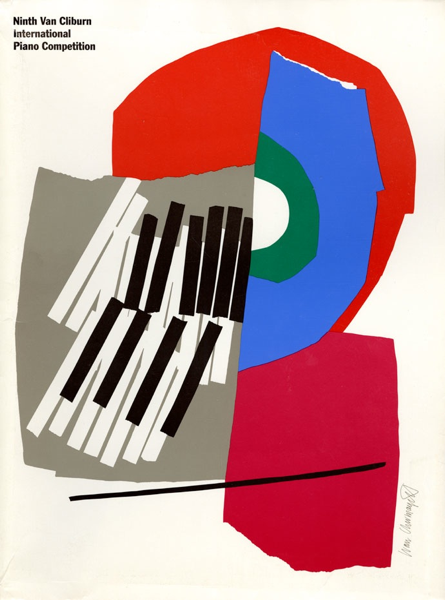 Chermayeff & Geismar Collection: Ninth Van Cliburn International Piano Competition Folder, 1993.