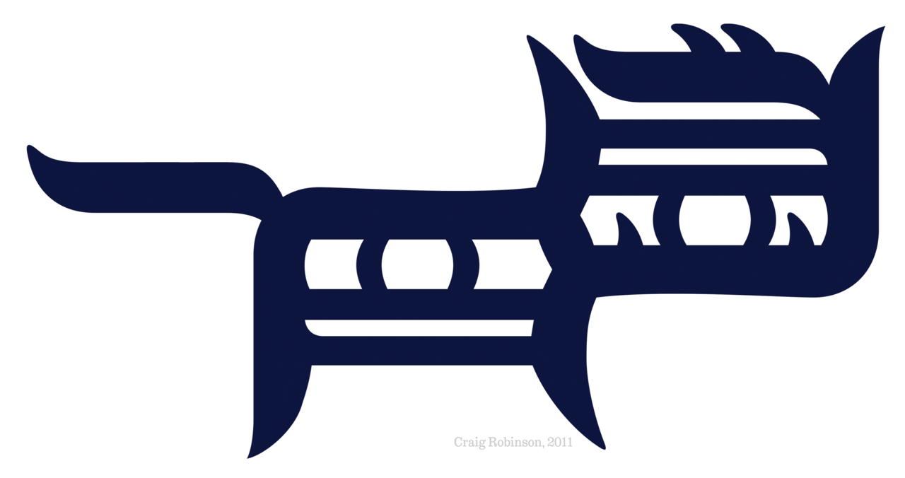 Cat (made from two Detroit Tigers jersey logos).