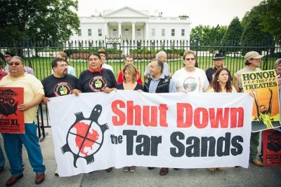 To shut down the Tar Sands and the Keystone XL pipeline in solidarity with the Indigenous Environmental Network! Respect indigenous land, respect the rights of mother earth, respect the rights of all human beings to live in healthy environments with healthy jobs.  Uplift the Cochabamba Accords and turn them into actionable policies for environmental, climate and economic justice! Grassroots Global Justice Alliance We Are Organizing Together! #organizetogether