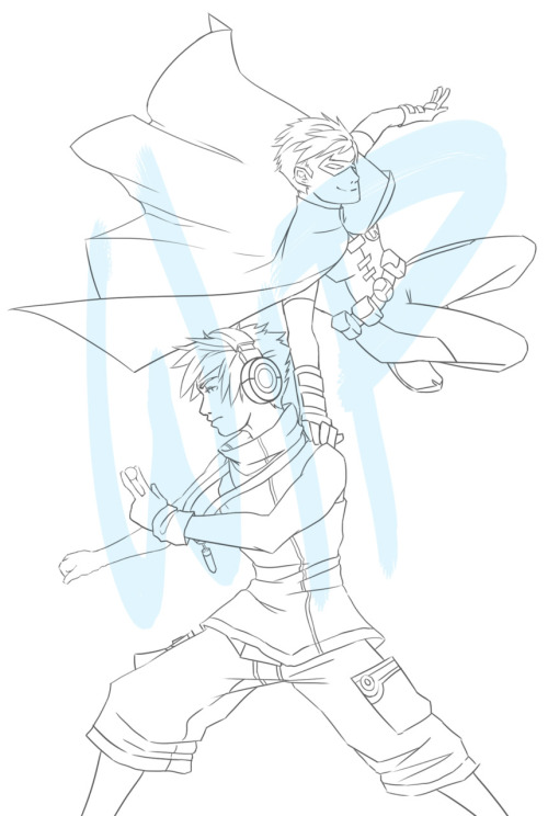 … WIP Of Neku from TWEWY and Robin… yea… I don't even…