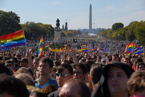 Happy National Coming Out Day! (photo taken by Jordana Hall at National Equality March, DC. 10.11.10)