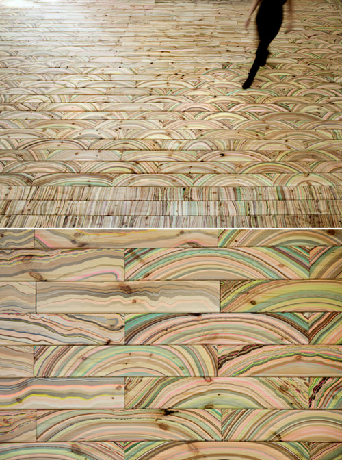 patternandco:  Marbelous Wood, designed by Snedker Studio (via Two and Twenty)