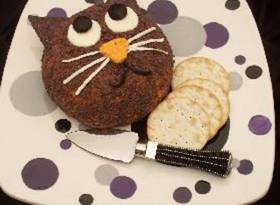 Black Cat Roasted Red Pepper Cheese Ball