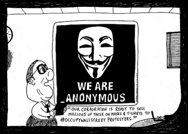 Anonymous Business cartoon by laughzilla for thedailydose.com